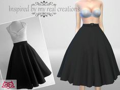 Colores Urbanos' Vintage Basic skirt (original mesh)