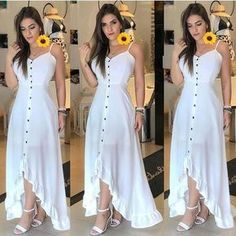Image may contain: 3 people, people standing Simple Dresses, Cute Dresses, Casual Dresses, Fashion Dresses, Summer Dresses, The Dress, Dress Skirt, Mode Abaya, Maxi Outfits