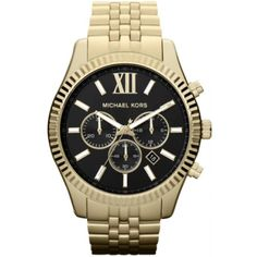 Just in! Michael Kors Lexi...  Get it today at  http://wristtakerwatches.com/products/michael-kors-lexington-chronograph-black-dial-gold-tone-mens-watch-item-no-mk8286?utm_campaign=social_autopilot&utm_source=pin&utm_medium=pin