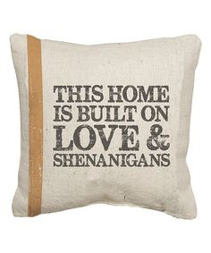 Freshen the look of your home in seconds when you add this sentimental throw pillow to a chair or sofa.