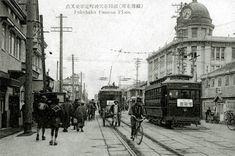 【大正期】福岡天神町電車交差点
