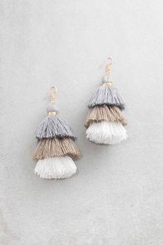 Santeria Sway Tassel Earrings | Gravelstone $15