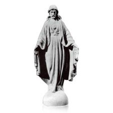 The Sacred Heart of Jesus Prayer Marble Statues are made from bonded marble (marble powder and resin mix). The marble statue is made in Italy by some of the best marble experts in the world. The statues can make beautiful memorials for cemeteries, homes and gardens. Some of our statues are displayed at Churches, Public Buildings, Government Buildings and even private ranches.