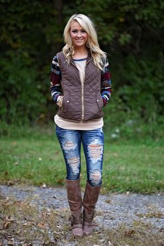 Quilted Vest - Brown – The Pulse Boutique