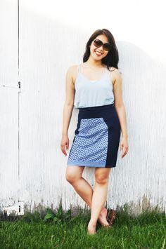 Printed Panel Skirt.