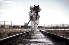 Great video of soldiers reuniting with military dogs