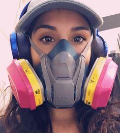 Mask Girl, Respirator Mask, Half Face Mask, Cat Ears, In Ear Headphones, Gas Masks, My Favorite Things, Womens Fashion, Girls