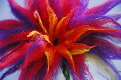 Detail of large 3F Wet Felted Flower
