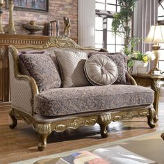 Meridian Furniture Inc Palmas Loveseat With Accent Pillows   606 L