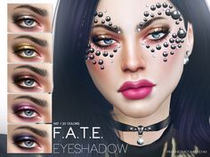 This eyeshadow is created by Pralinesims. It's the F.A.T.E. Eyeshadow N37. It looks amazing.