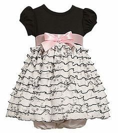 Bonnie Jean Baby Dress -  Ruffled Knit Toile Dress with Bloomers -  Size $28.99