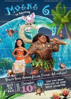 Personalize Moana Party Invitation, Maui Birthday Invite
