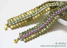 BeeJang - Spring on Tila Bracelet ~ Seed Bead Tutorials