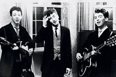 The Quarrymen (Paul, John, George) cover Buddy Holly's That'll Be the Day, recorded in 1958. aka their first track ever recorded.