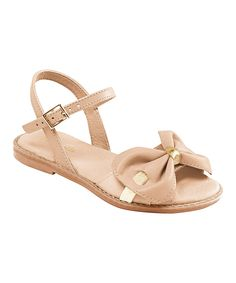 Love this Pampili Blush Bow Sandal by Pampili on #zulily! #zulilyfinds