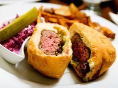 Burgers Two Ways at Korzo in Brooklyn: Deep Fried and Non-Deep Fried | A Hamburger Today