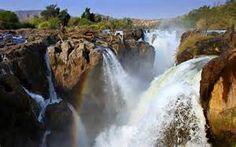 Epupa Falls between Angola and Namibia - Bing images