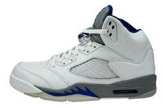 Air Jordan 5 (V) Retro - White / Sport Royal - Stealth