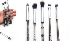 """Lovers of the wizarding world, rejoice! It's as if our """"accio"""" summoning charm actually worked: The Harry Potter makeup product of our dreams is officially here. New beauty brand """"Storybook Cosmetics"""" announced their Harry Potter makeup brushes via I"""
