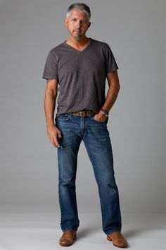 claiborne sportshirt and straight jeans  men's musthaves