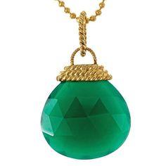 green onyx pendant.