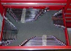 Use springs for organization of wrenches and possibly other tools in your toolbox