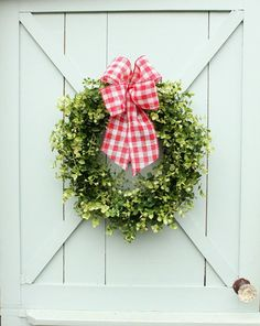 Boxwood Wreath Farmhouse Decor Cottage Decor Gift for