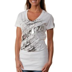 NASCAR Chase Authentics Matt Kenseth Ladies Lightning V-Neck T-Shirt - White (Small) by Football Fanatics. $24.95. Chase Authentics Matt Kenseth Ladies Lightning V-Neck T-Shirt - WhiteScreen print graphics with metallic accentsOfficially licensed Matt Kenseth slim fit teeImported100% CottonV-neck100% CottonScreen print graphics with metallic accentsV-neckImportedOfficially licensed Matt Kenseth slim fit tee