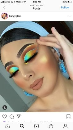 Red Eyeshadow Makeup, Eye Makeup Art, Asian Eye Makeup, Colorful Eye Makeup, Makeup Goals, Makeup Inspo, Fire Makeup, Eye Makeup Designs, Glamour Makeup