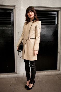 Leather leggings and trench