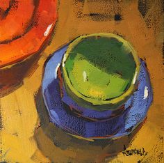 Love the painterly quality of her still life paintings. Artist, Cathleen Rehfeld