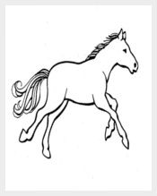 Printable Colouring Pages Horse Template