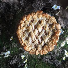 Springtime Garden Wreath Salted Caramel Pear Pie via @feedfeed on https://thefeedfeed.com/thejudylab/springtime-garden-wreath-salted-caramel-pear-pie