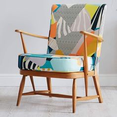 """363 Likes, 6 Comments - Kitty McCall (@kittymccall) on Instagram: """"Such a beautiful chair by @the_re_covery The Canary yellow fabric looks great against the light…"""""""