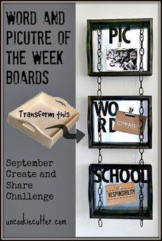 Conversation Starter Boards and September Create and Share - UncookieCutter.com