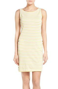 Barbour 'Dalmore' Stripe Jersey Sleeveless Shift Dress