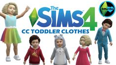 The Sims 4 CC Toddler Clothes Maxis Match