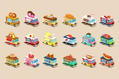 Van Food in Isometric style by TopVectors on Creative Market