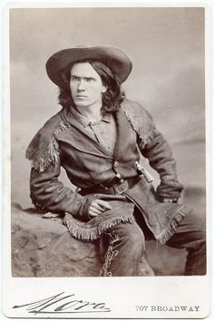 Kit Carson Jr Armed 1870s Cabinet Card Photo by Mora Buffalo Bill Wild West Show | eBay