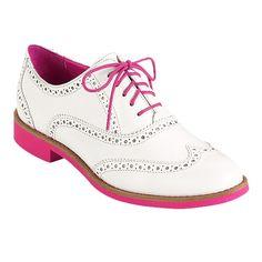 Pink & White Oxfords.  Hmmm, I kinda need.