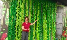 Vines made from plastic tablecloths …