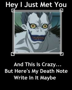 Death Note pick up line