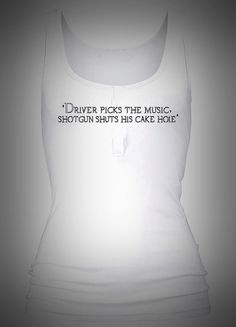Supernatural Quote Cakehole Print Baggy Chic Tank by TenQuidTees, £10.00