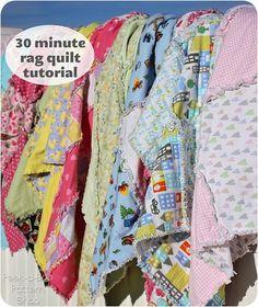 30 Minute Rag Quilt Tutorial