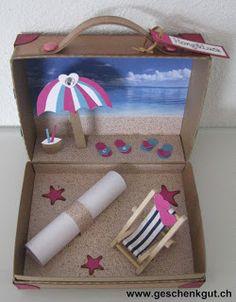 geschenkbox geldgeschenk urlaub reisen strand pinteres. Black Bedroom Furniture Sets. Home Design Ideas