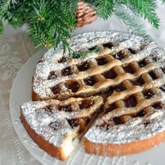 wonderful crumbly cake full of spices and topped with marmalade and lattice top.Torte, wonderful crumbly cake full of spices and topped with marmalade and lattice top. Austrian Recipes, Croatian Recipes, Austrian Food, German Recipes, Just Desserts, Delicious Desserts, Yummy Food, Sweet Tarts, Eat Dessert First