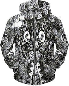 Legendary Double Dragon Custom Dubstep King Style Zip Hoodie by Willy Badu.