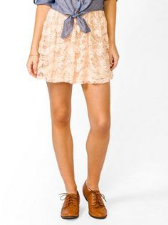 #Forever21                #Skirt                    #Shirred #Lace #Skirt     Shirred Lace Skirt                                  http://www.seapai.com/product.aspx?PID=14433