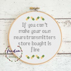 Neurotransmitters Cross Stitch PDF Pattern Geek Cross Stitch