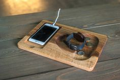 Etsy Handmade, Handmade Crafts, Handmade Items, Gifts For Father, Gifts For Him, Iphone Docking Station, Wooden Organizer, Wood Gifts, Kind Words